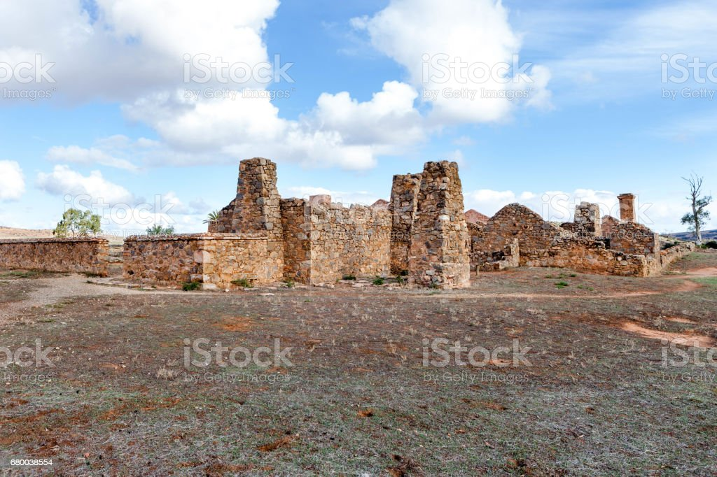 Old ruins of Kanyaka Station,South Australia. stock photo