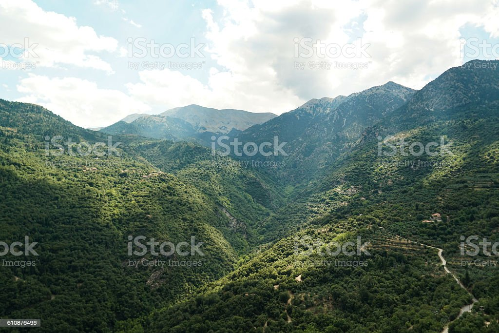 Old Ruins of Mystras stock photo