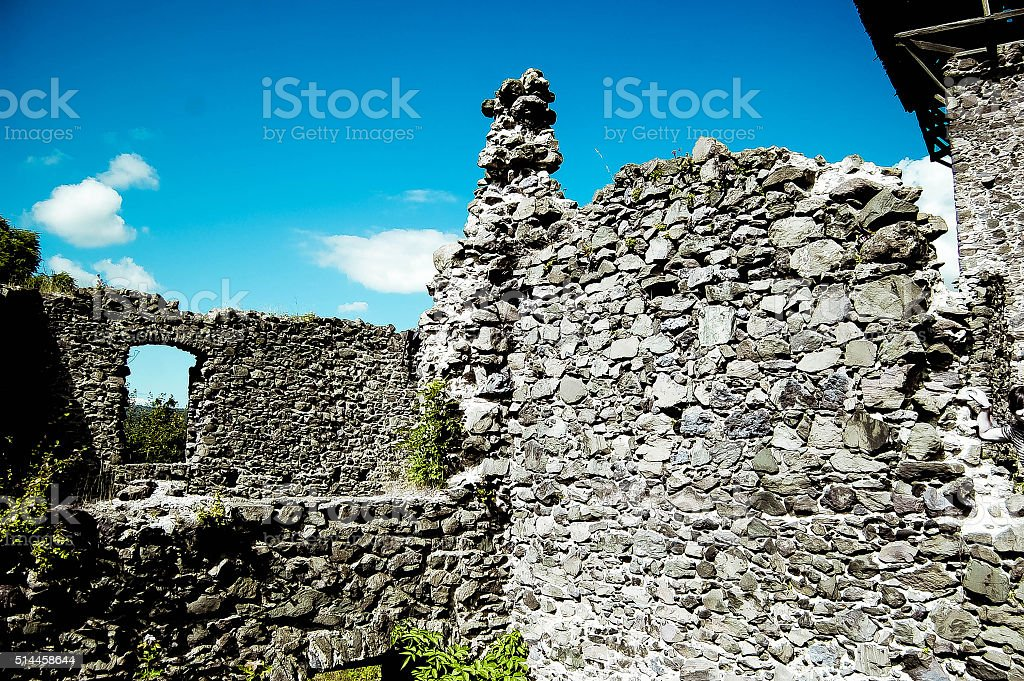 old ruins of stone stock photo