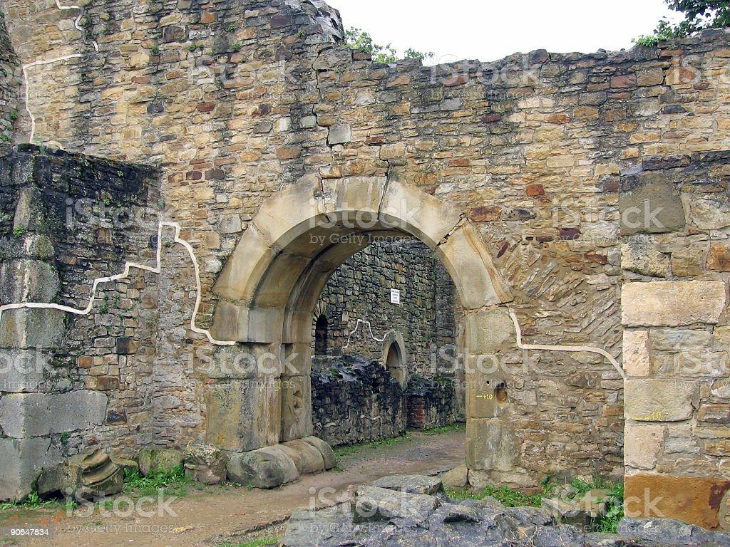 Old ruins - Suceava, Romania royalty-free stock photo