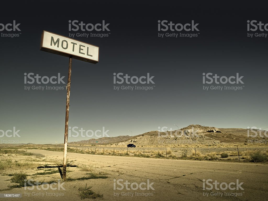 Old run down motel sign royalty-free stock photo