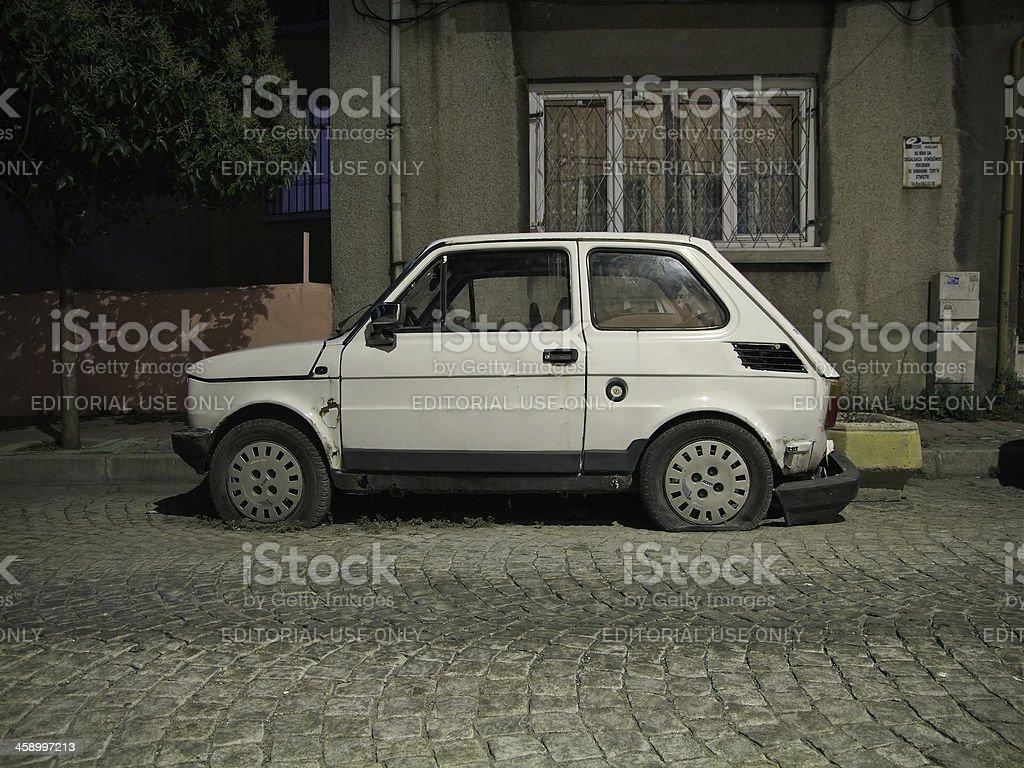 'Old, run-down FIAT 126' stock photo
