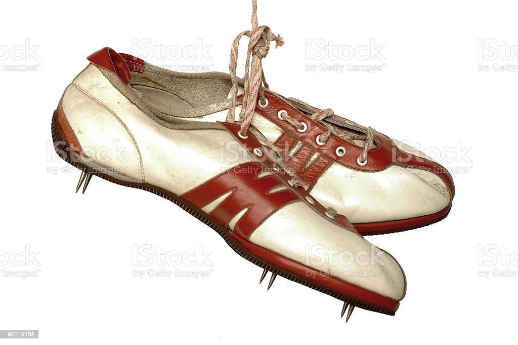Old running shoes royalty-free stock photo