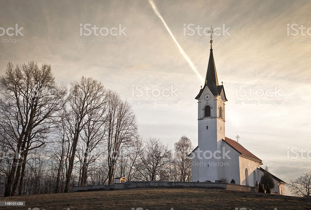 Old rural catholic church royalty-free stock photo
