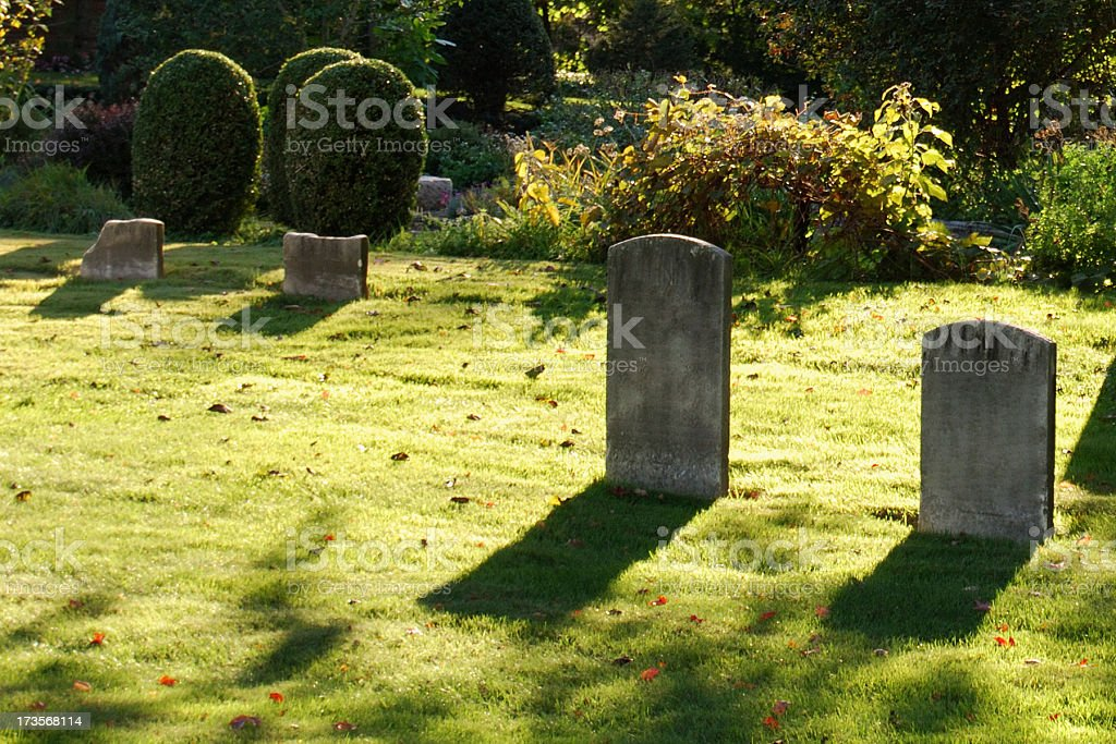 Old Rural Cemetery royalty-free stock photo