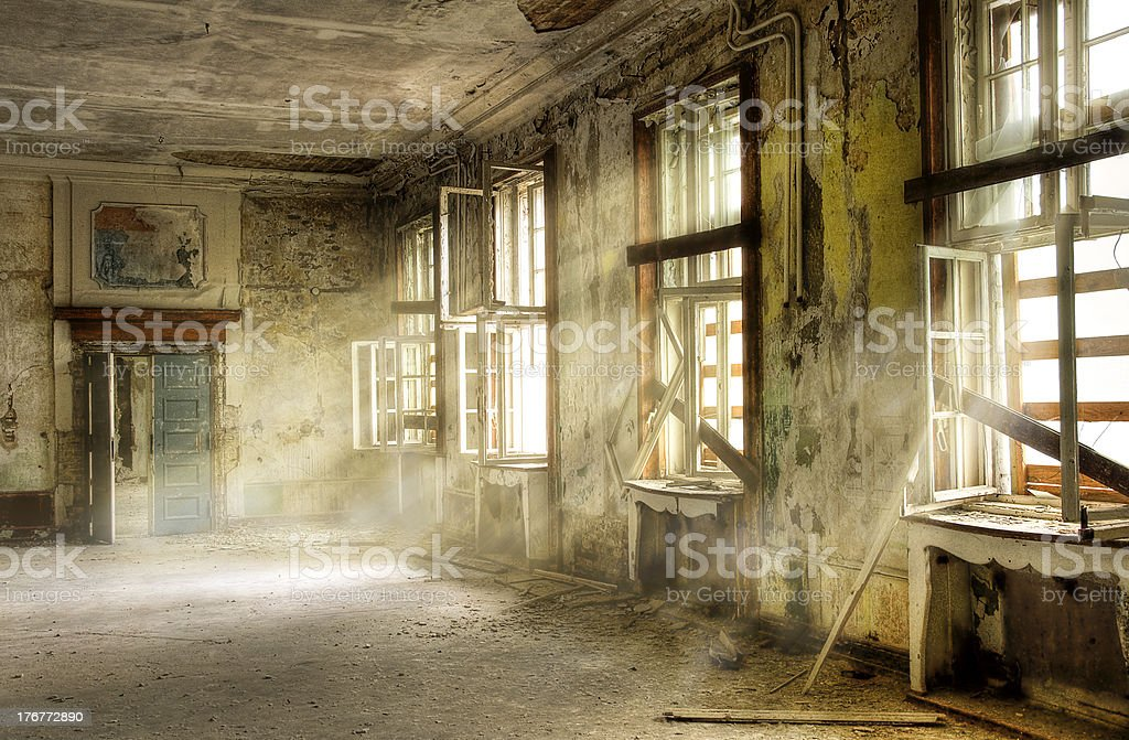 old russian barracks stock photo