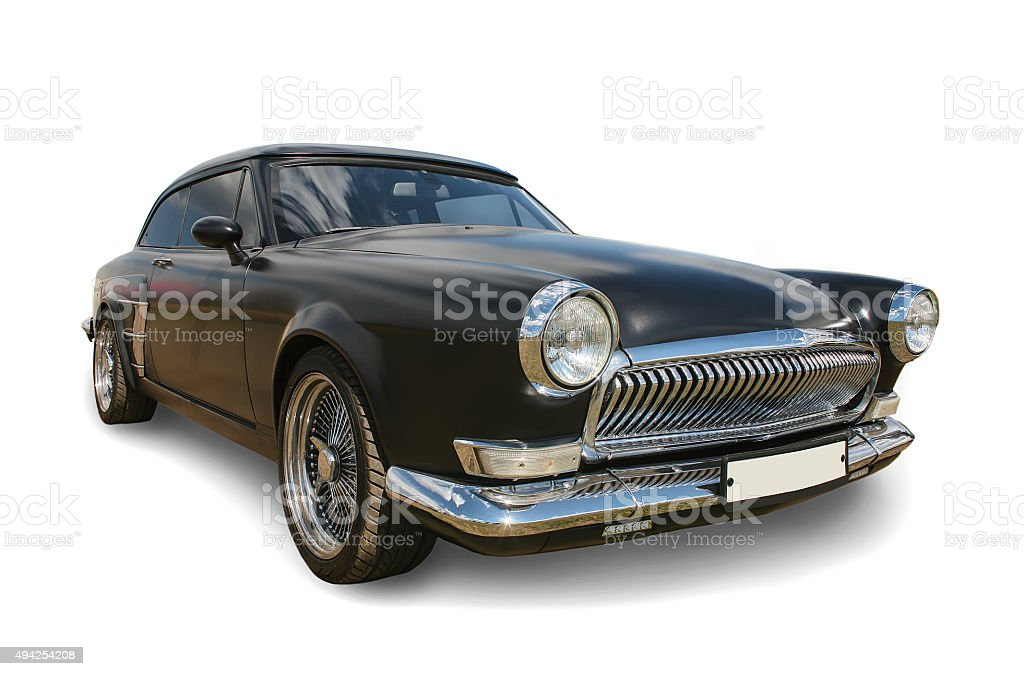old Russian black car stock photo