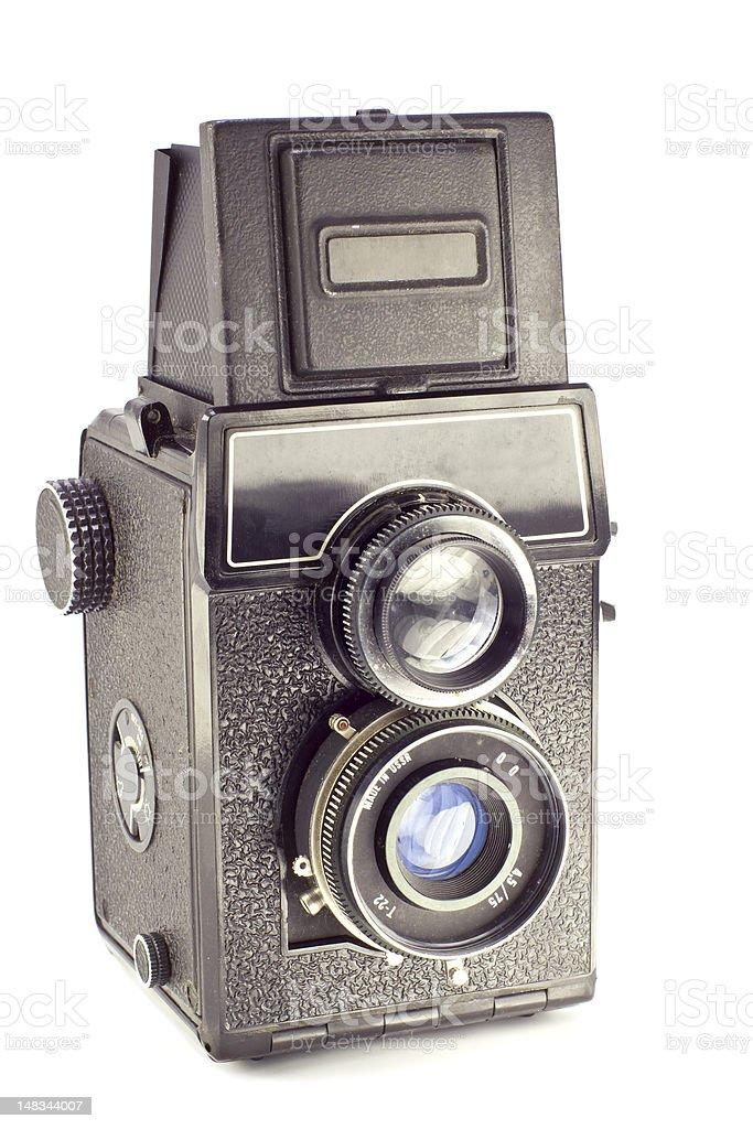 Old russian camera vintage medium format film stock photo