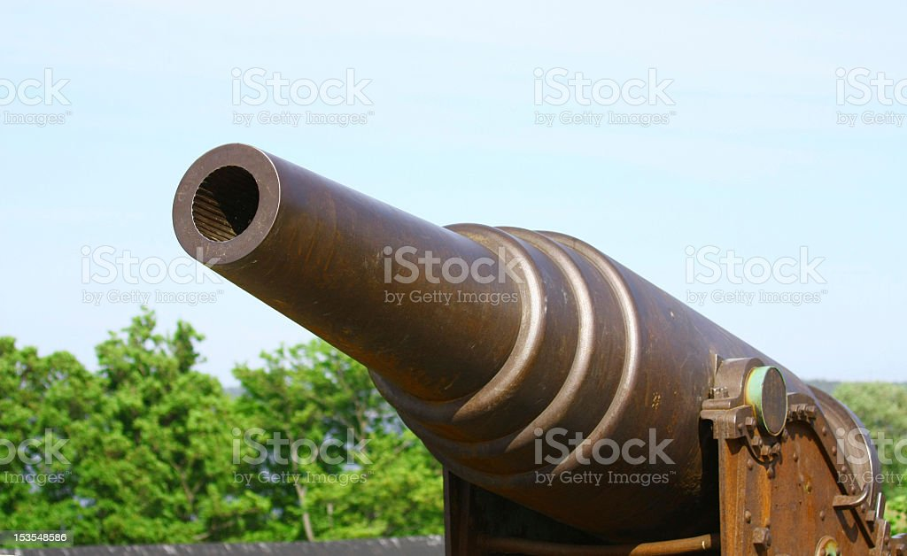 Old Russian Cannon in Suomenlinna Sveaborg Helsinki Finland royalty-free stock photo
