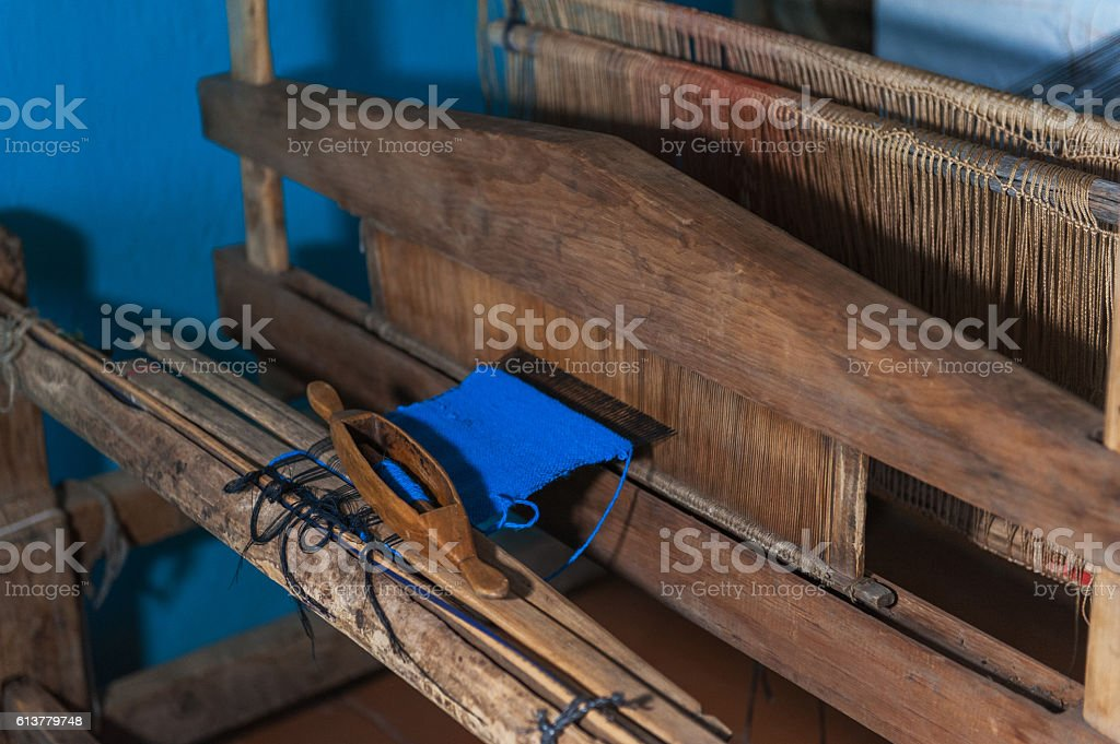 Old russian distaff stock photo