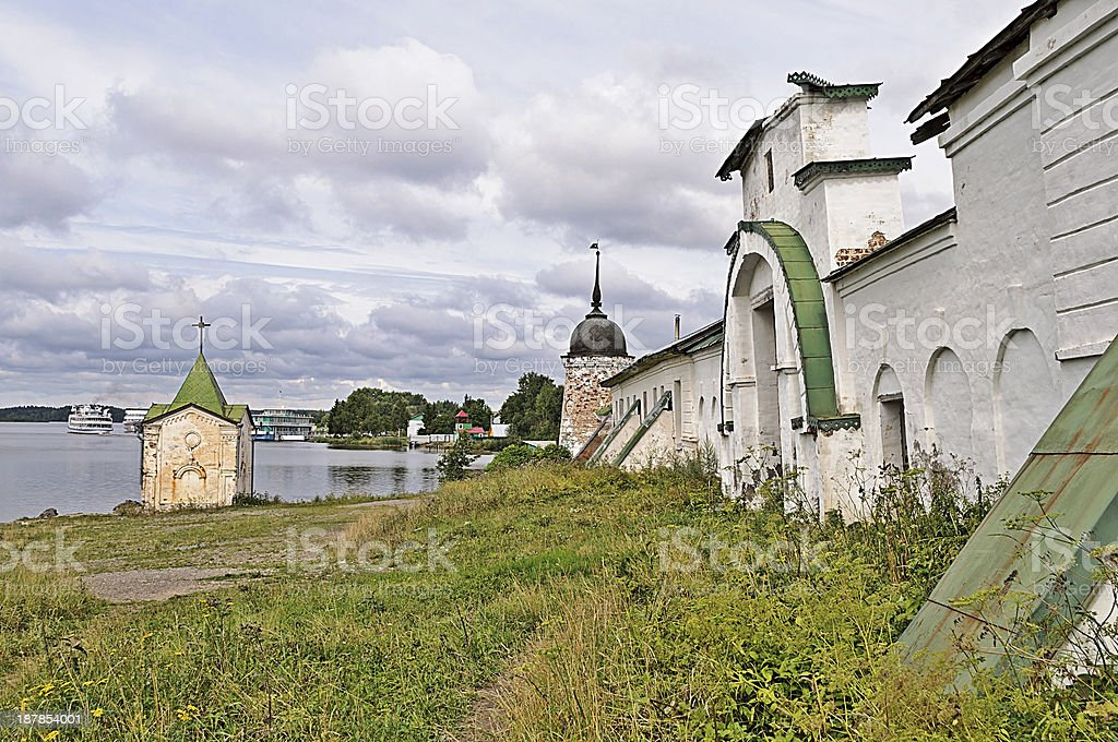 Old russian Goritsky convent royalty-free stock photo