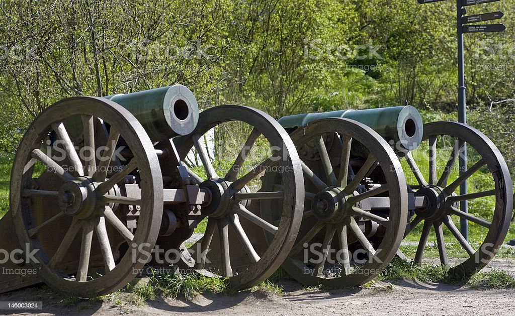 Old Russian guns royalty-free stock photo
