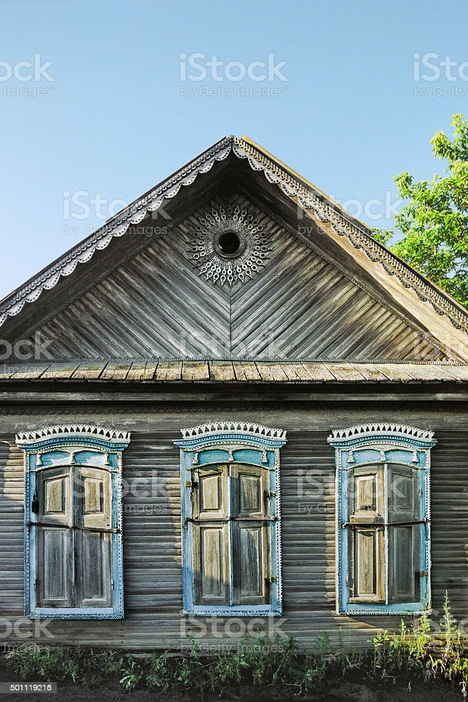 Old Russian house  nineteenth century period stock photo