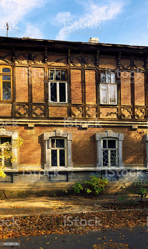 Old Russian  house . stock photo