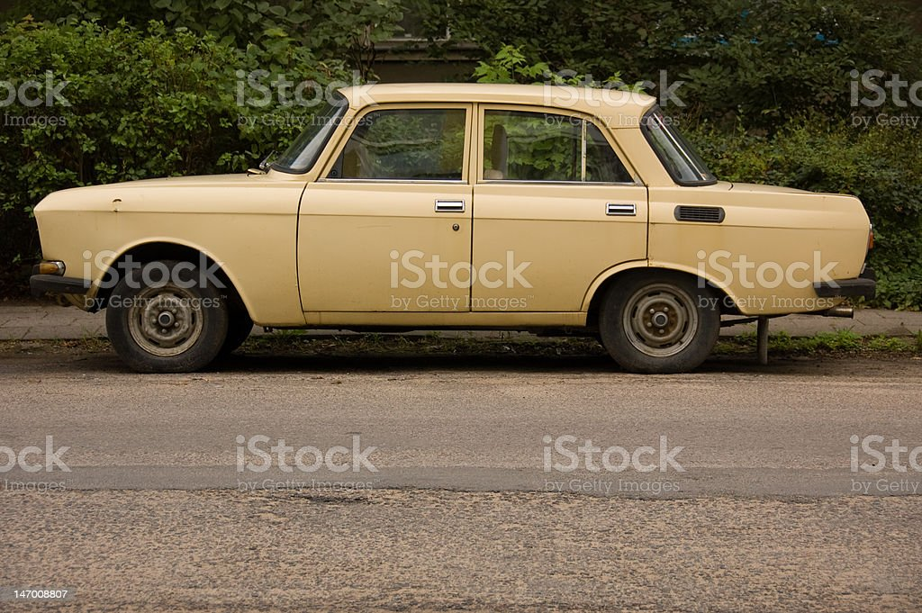Old Russian Lada stock photo