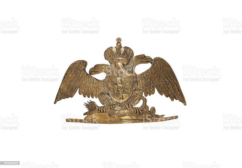 Old Russian Military Cockade stock photo