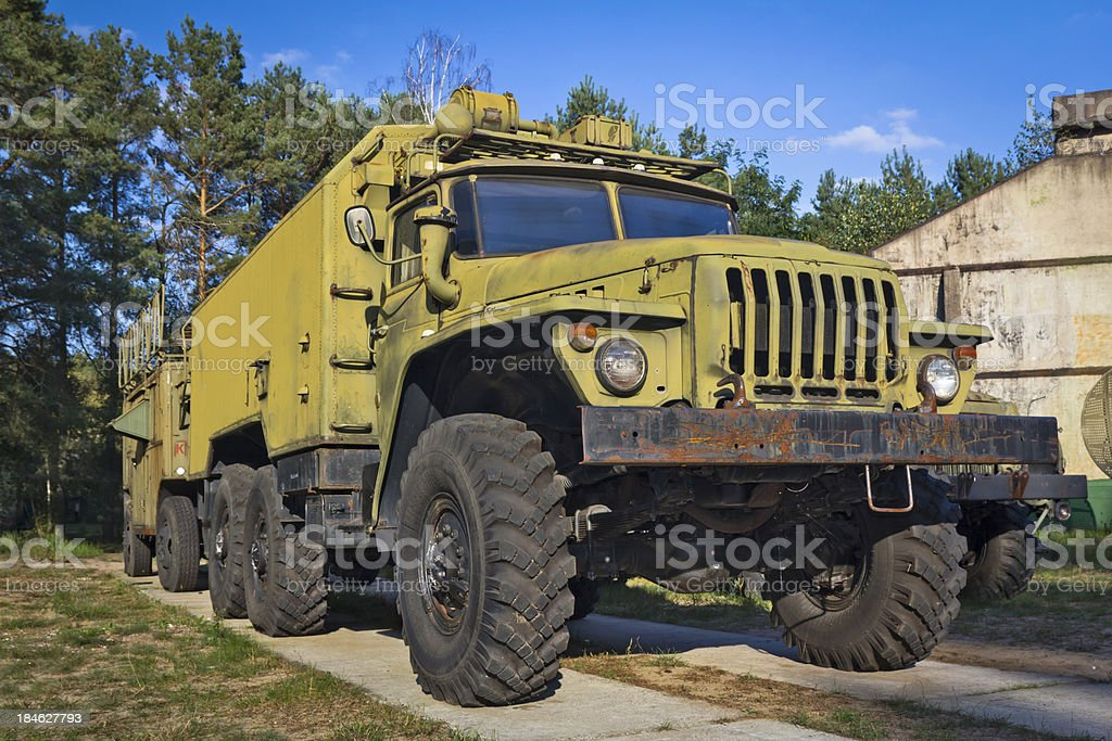 Old Russian military truck Ural-4320 royalty-free stock photo