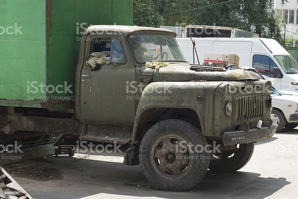 Old Russian truck stock photo