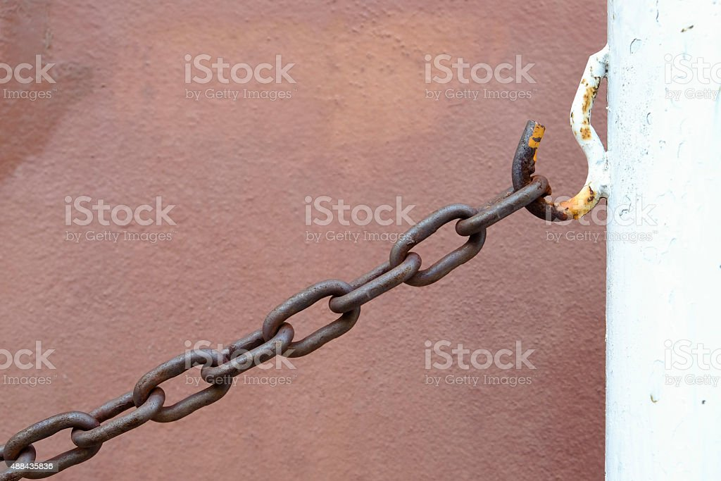 Old Rust chain stock photo