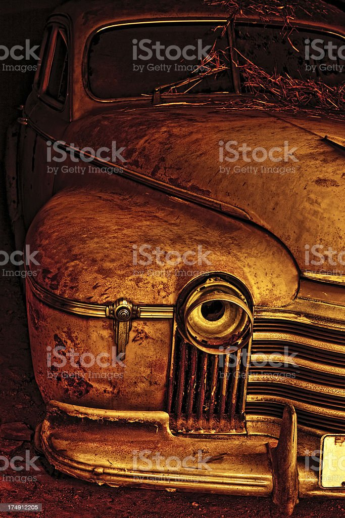 Old Rusted American Car royalty-free stock photo
