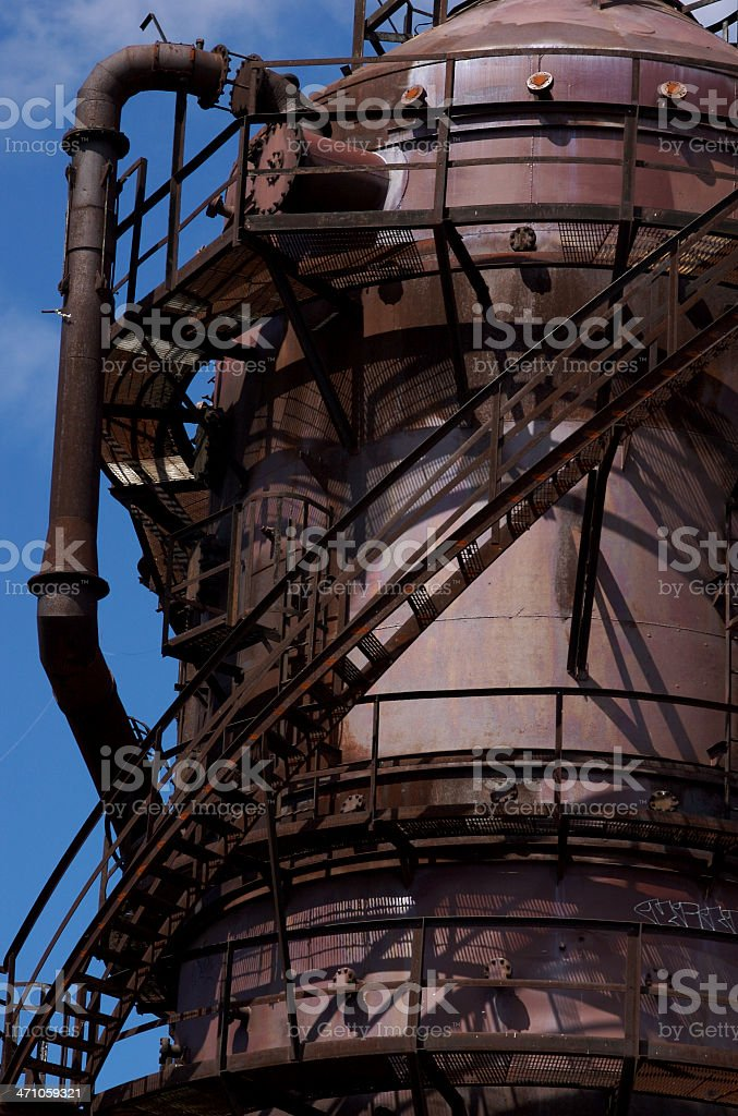 Old Rusted Gas Plant royalty-free stock photo