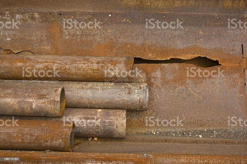 Old rusted steel pipes royalty-free stock photo