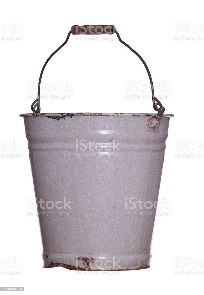old rustic bucket royalty-free stock photo