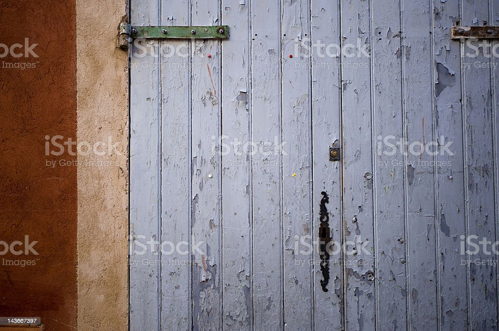 Old Rustic French Door Detail royalty-free stock photo