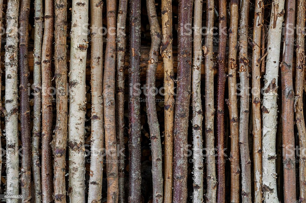 Old rustic palisade background stock photo