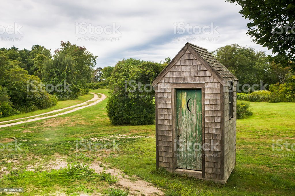 Old Rustic Privvy stock photo