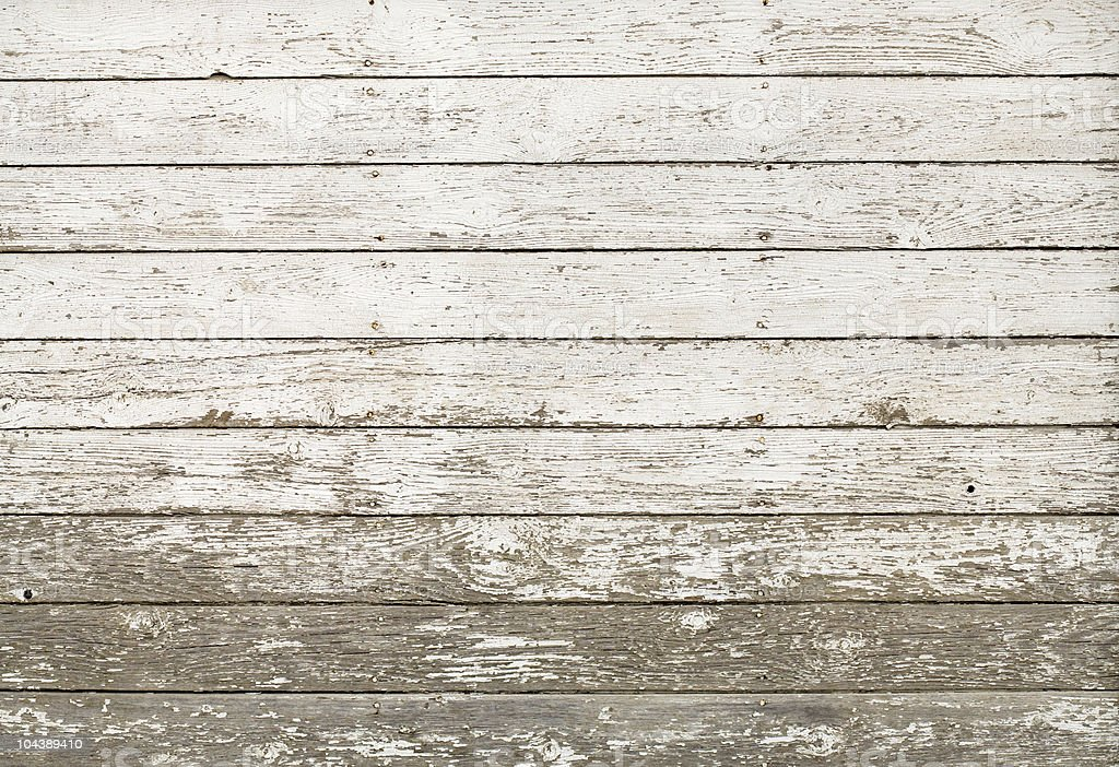 Old, rustic, white barn planks stock photo