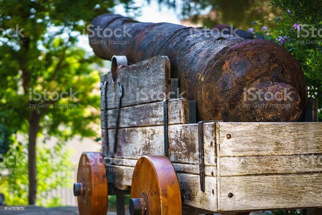 Old Rusting Cannon stock photo