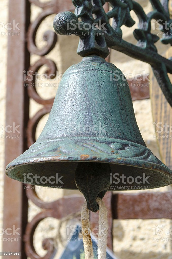 Old rusty bell stock photo