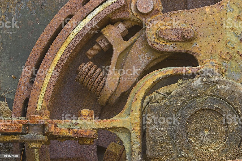 Old Rusty Brake Gear royalty-free stock photo