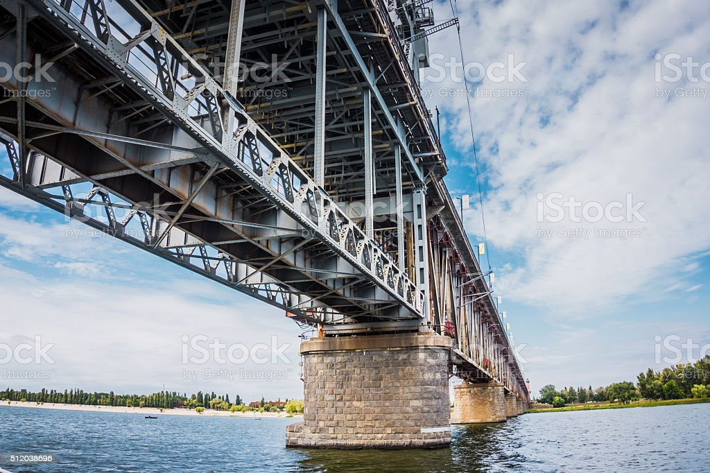Old rusty bridge stock photo