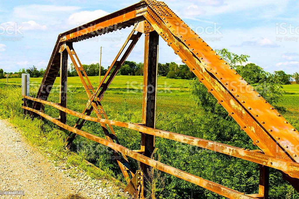 Old rusty bridge yet so beautiful stock photo