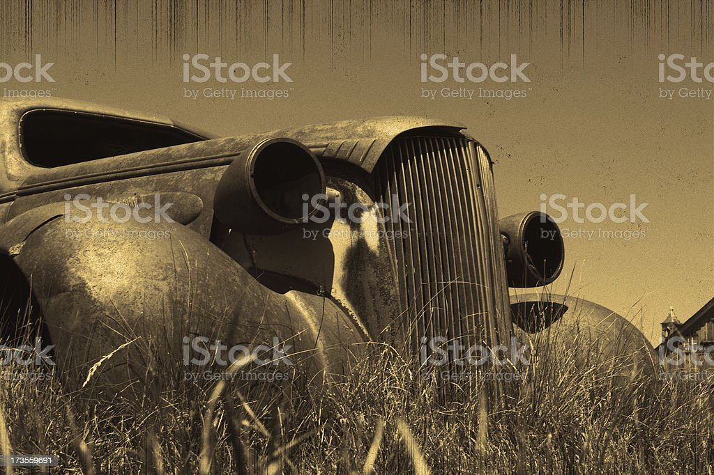 Old Rusty Car Wreck royalty-free stock photo