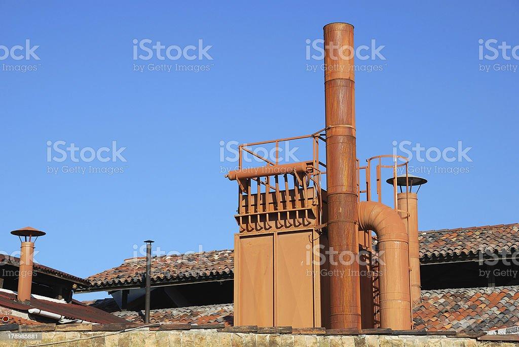 Old rusty chimney royalty-free stock photo
