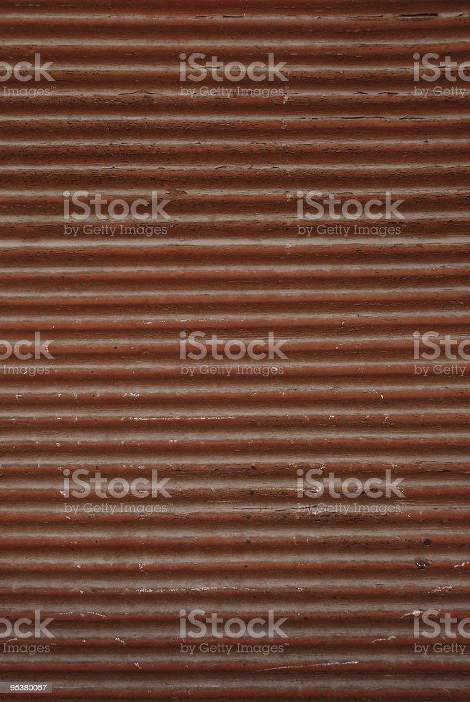 old rusty corrugated iron fence royalty-free stock photo