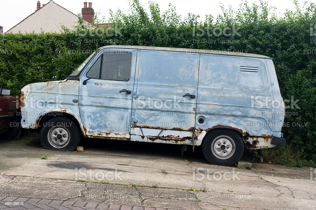 Old rusty delivery van royalty-free stock photo