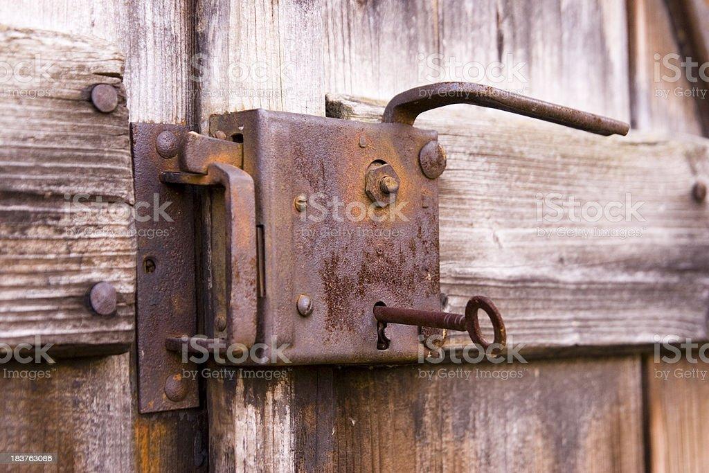 Old Rusty Door Lock stock photo
