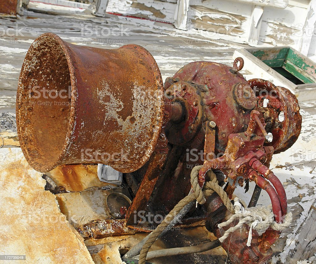 Old Rusty Engine stock photo