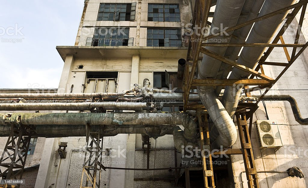 old rusty factory royalty-free stock photo