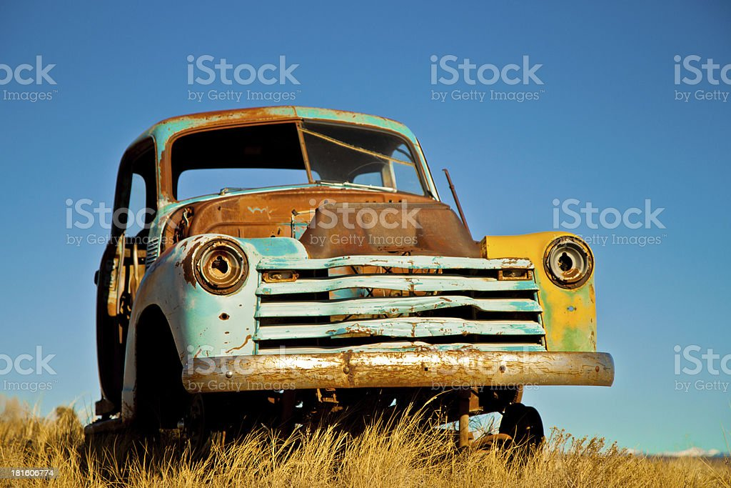Old Rusty Farm Truck royalty-free stock photo