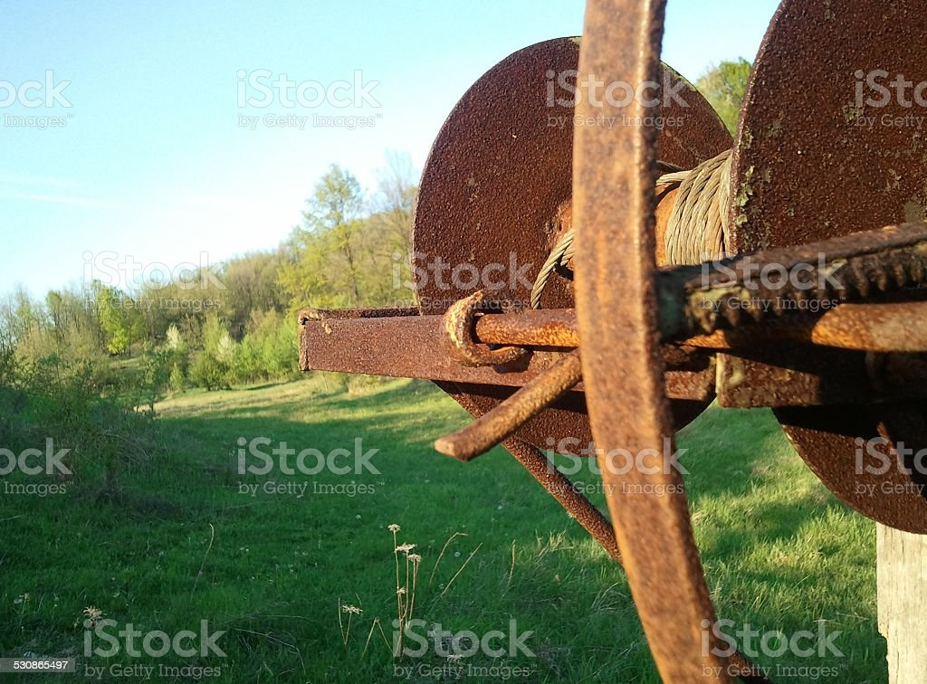 Old rusty fountain wheel royalty-free stock photo