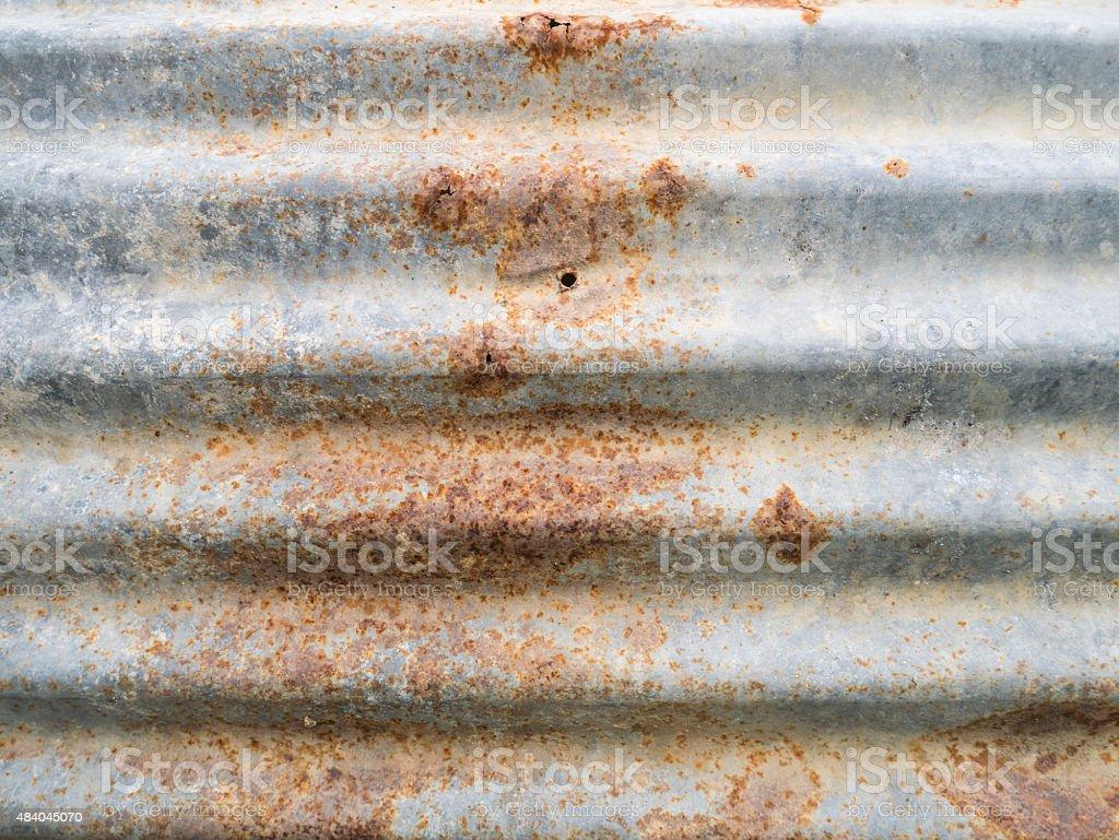 old rusty galvanized iron wall texture stock photo