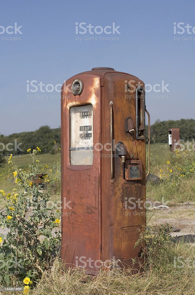 Old Rusty Gas Pump royalty-free stock photo