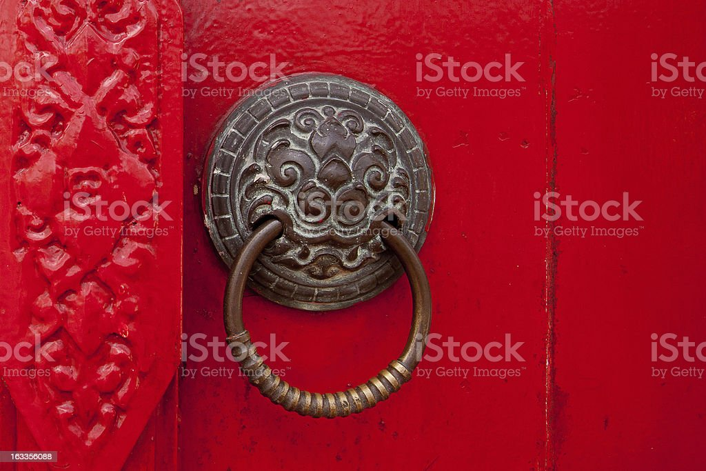 Old rusty gate latch. royalty-free stock photo