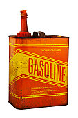 Old Rusty Grungy Metal Gasoline Can