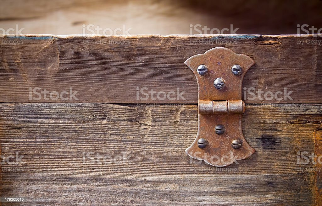 Old rusty hinge royalty-free stock photo
